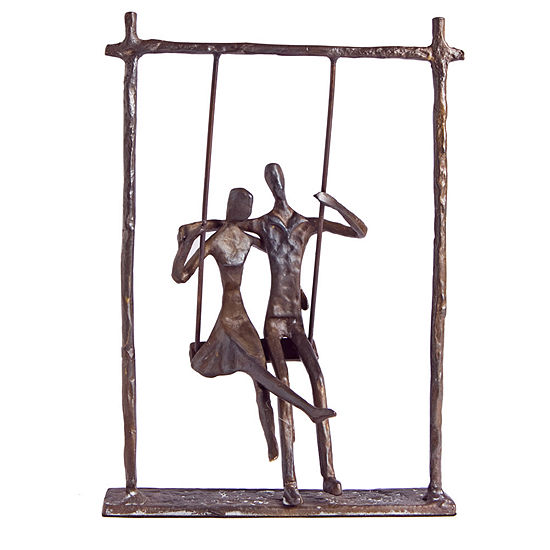 Danya B. Couple on a Swing Cast Bronze