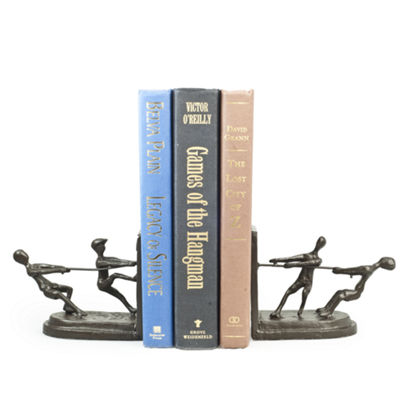 Danya B. Children Playing Tug of War Metal Bookend Set