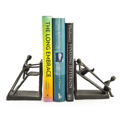Danya B. Children on a Slide Iron Bookend Set