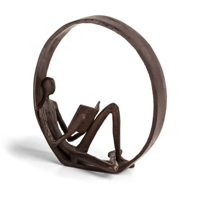 Danya B. Encircled Reader Iron Sculpture