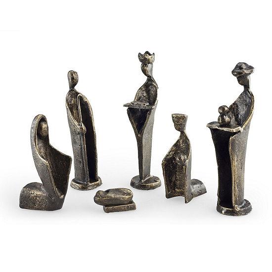 Danya B 6 Pc Iron Nativity Set Family Kings