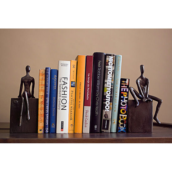 Danya B. Bookend Set with Man and Woman Sitting on a Block