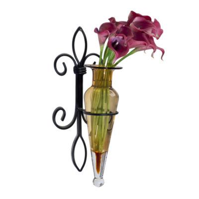 Danya B. Amphora Vase on Fleur Lis Sconce