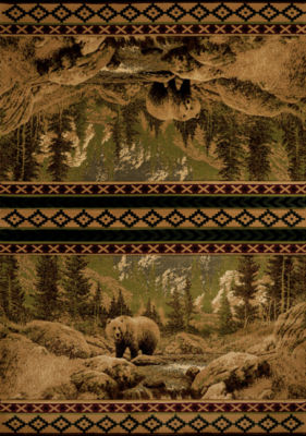 United Weavers Contours Carleo Entertainment Management Collection Scenic Bear Rectangular Rug