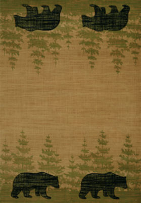 United Weavers Contours Carleo Entertainment Management Collection Wooded Bear Rectangular Rug