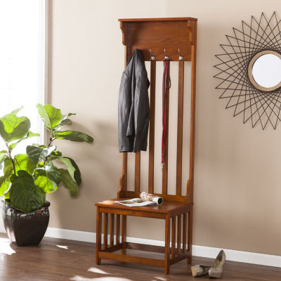 Home Décor Collections Hall Tree Entry Bench