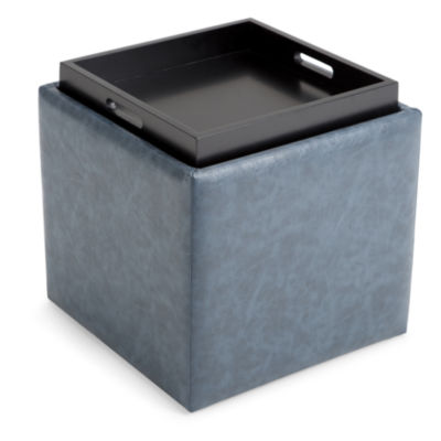 Rockwood Cube Storage Ottoman With Tray