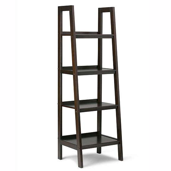 Sawhorse Ladder Shelf