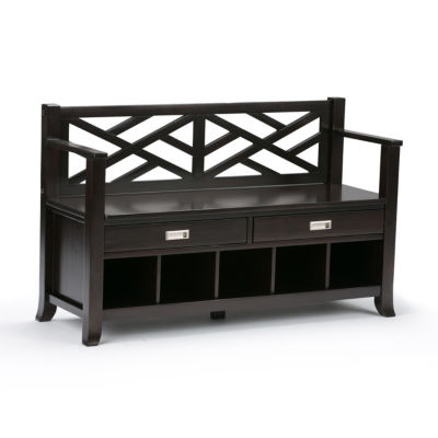 Sea Mills Entryway Storage Bench With Drawers & Cubbies