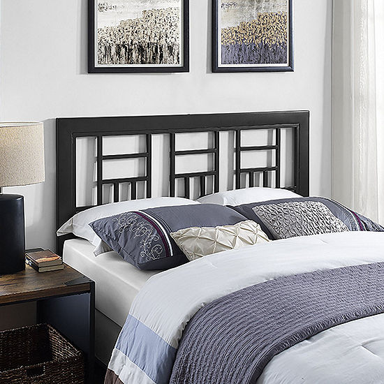 Metal Square Black Headboard