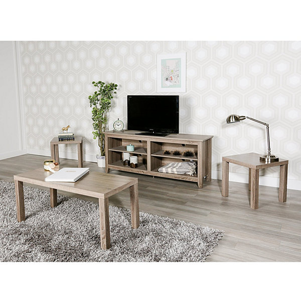 3-Pack Wood Coffee End Table Set