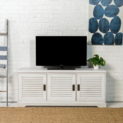 "Angelo Home Wood 60"" Louvered Door TV Console"
