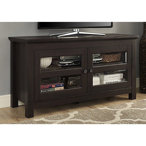 "44"" Wood TV Media Stand Storage Console"""