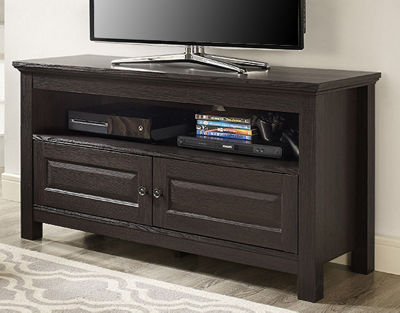 "44"" Wood TV Media Stand Storage Console"