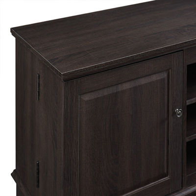 "60"" Wood TV Media Stand Storage Console"