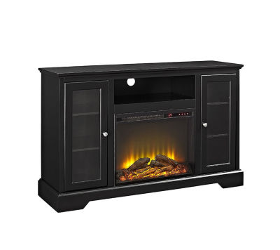 """52"""" Highboy Fireplace Wood TV Stand Console"""""""