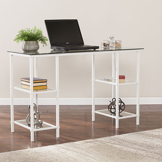 Modern Life Furniture Layla Metal Glass Writing Desk