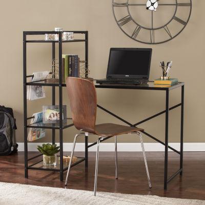 Modern Life Furniture Ellie Metal/Glass Writing Desk
