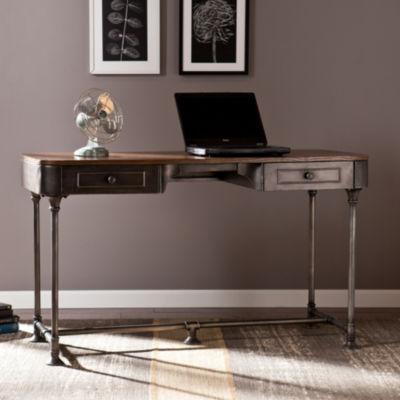 Modern Life Furniture Industrial 2-Drawer Desk