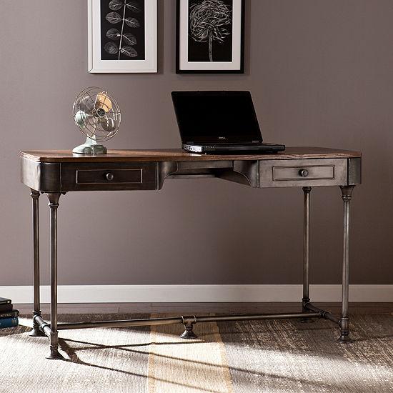 Modern Life Furniture Industrial 2 Drawer Desk