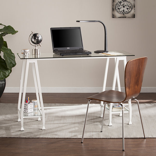 Modern Life Furniture Metal/Glass A-Frame Writing Desk