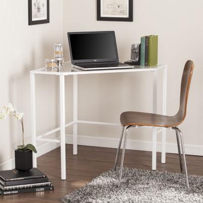 Modern Life Furniture Metal/Glass Corner Desk