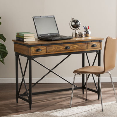 Modern Life Furniture 2-Drawer Industrial WritingDesk w/ Keyboard Tray