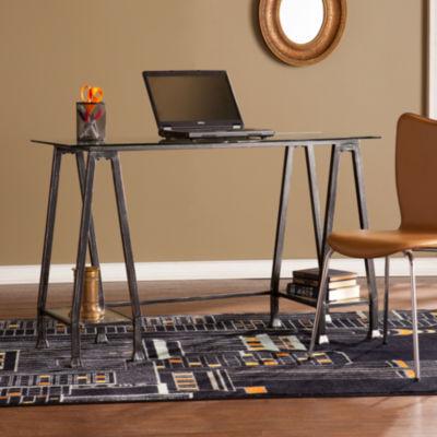 Modern Life Furniture Metal/Glass A-Frame Desk