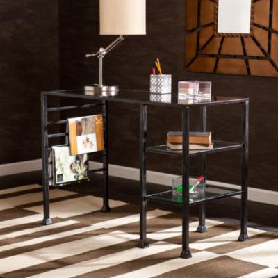 Modern Life Furniture Metal/Glass Writing Desk