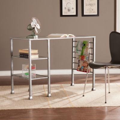 Modern Life Furniture Grace Metal/Glass Writing Desk