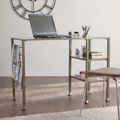 Modern Life Furniture Levi Metal/Glass Writing Desk