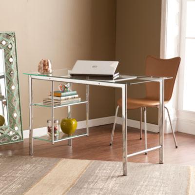 Modern Life Furniture Chrome/Glass Desk