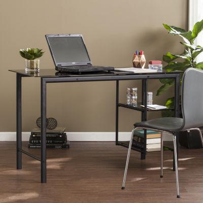 Modern Life Furniture Contemporary Metal & Glass Desk
