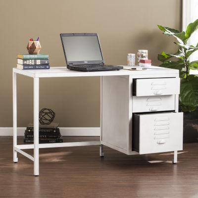 Modern Life Furniture Industrial Wood/Metal File Desk