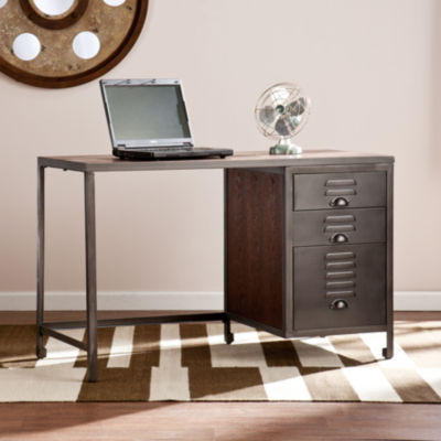 Modern Life Furniture Wood/Metal File Desk