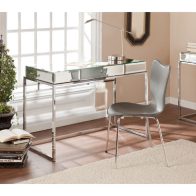 Reflections Décor Mirrored Desk w/ Drawer
