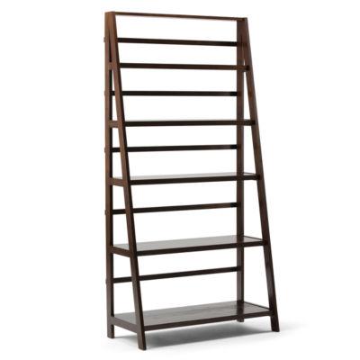Acadian Wide 5-Shelf Ladder Bookcase