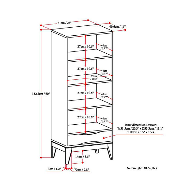 Harper Storage Bookcase