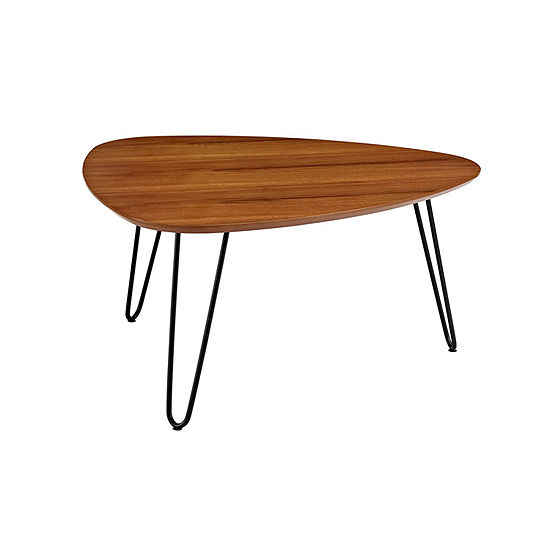 Hairpin Leg Wood Coffee Table
