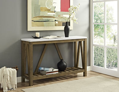 Rustic A-Frame Entry Console Table