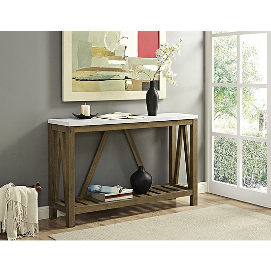 Rustic A Frame Entry Console Table