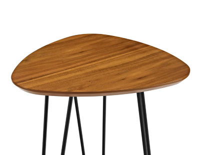 Hairpin Leg Wood End Table