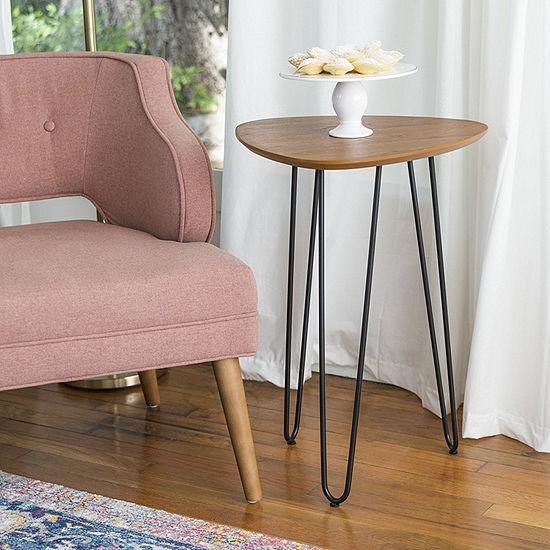 Hairpin Leg Wood End Table