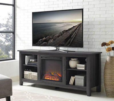 "58"" Wood Electric Fireplace TV Stand"