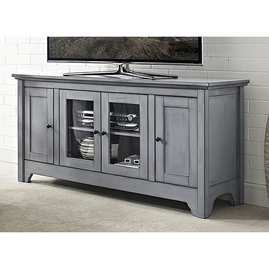 """52"""" Wood Media Storage Console TV Stand"""