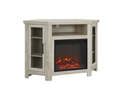 """48"""" Wood Corner Electric Fireplace Media Console TV Stand"""