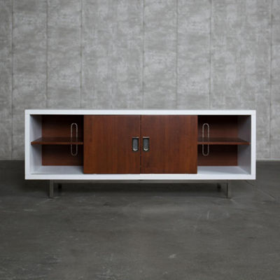 "60"" Manhattan Wood TV Console with Center Shelves"