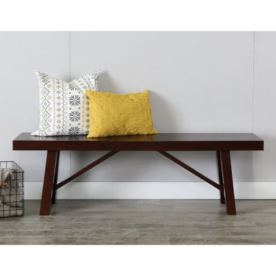 """60"""" Solid Wood Trestle Dining Bench"""