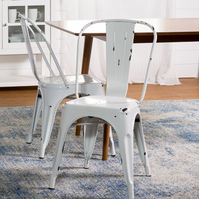 Stackable Metal Café Bistro Chair
