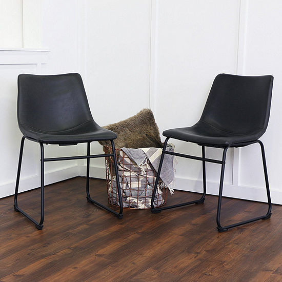 2-pc. Faux Leather Dining Kitchen Chairs